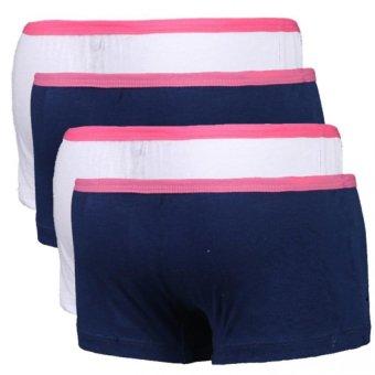 Bộ 4 quần lót đùi bé gái Cotton 100% không in lotbe