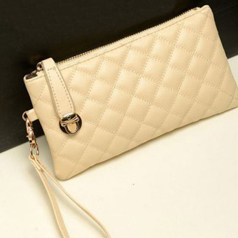 Vintage Women Clutch PU Leather Handbag White - intl