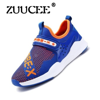 Childrens Shoes Boys And Girls Sports Shoes Childrensrunning Shoes Boys And Girls Leisure Shoes Summer Comfortable Lightsports Shoes (Blue) - intl
