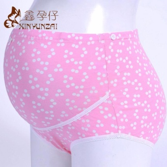 Maternity Underwear Panty Brief for Pregnant Women Pure Cotton High Waist Belly Support Pregnancy Clothing Bottom Pants #22 - intl