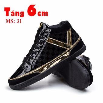 Giày tăng chiều cao 6cm ánh vàng cao cấp 3101DE