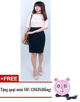 Chân váy công sở Zaskin Korea ZA03V2 + Tặng quạt mini shinil SIF-120JJS (Hồng)