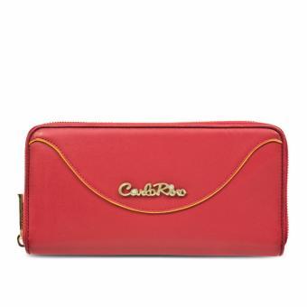 Ví nữ khóa dây kéo Carlo Rino 0303255-001-04 màu đỏ)