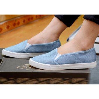 Giày lười vải nữ đế êm - TiLaMi - VSV001 (xanh jean)