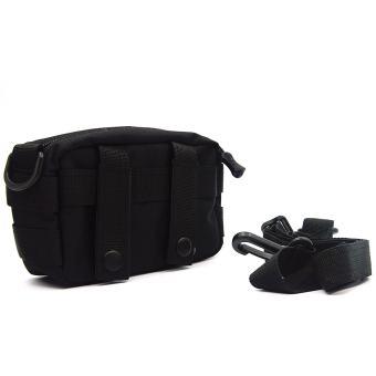 Molle Tactical Storage Bag Cross Body Messenger Tote Bag Shoulder Satchel Army Gear Leisure Flap Handy Pouch Black - Intl