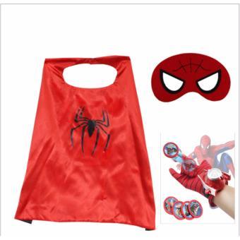 Áo choàng mặt nạ Người nhện + Tặng găng tay bắn thẻ nhựa