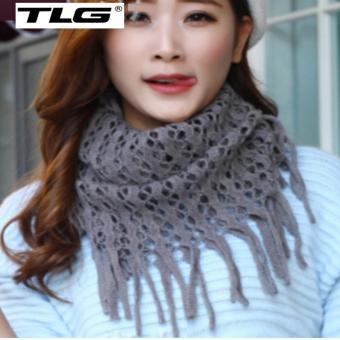 Khăn Len Nu Det Kim Tua TL6312-1 (Xám)