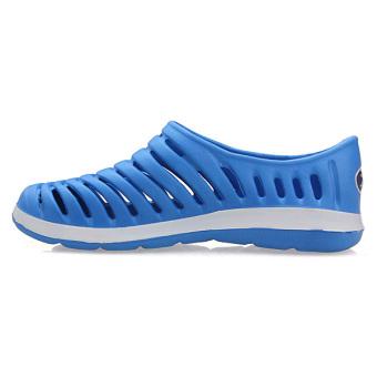 Men Hollow Sneakers Beach Sandals Slip On Loafer Slipper Breathable Stripe Shoes - Intl - Intl