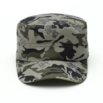 Unisex Sun Visor Army Camouflage Military Soldier Hats Jungle Caps - Intl