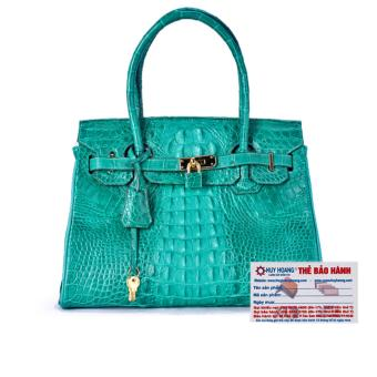 HL6224 - Túi xách nữ da cá sấu Huy Hoàng cao cấp màu xanh lá