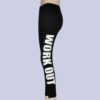Professional Breathable Ladies Sports Running Jogger Pants Women Yogart Leggings- #work out - intl
