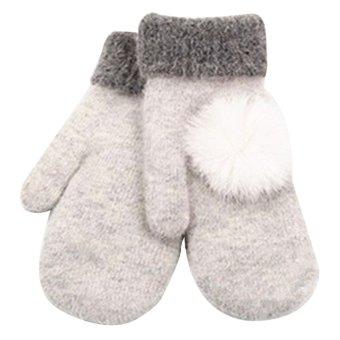 Women's Warm Winter Gloves Mittens White - Intl
