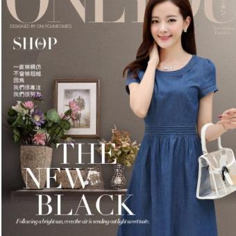 Đầm Jean Xếp Ly Eo Thời Trang - 150 – GS1861