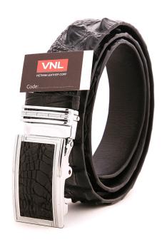 Dây thắt lưng cá cấu nam da thật chính hãng đặc biệt Da Giày Việt Nam VNL0LZ16D (Đen)