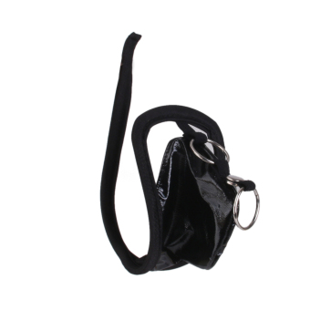 Sexy Two Strap Style Men Thongs C-String Visible Panty Underwear Black - Intl