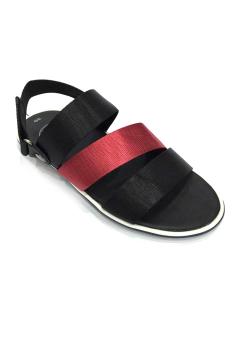 Giày Sandal 3 quai ngang đen phối đỏ Everest E125 D72
