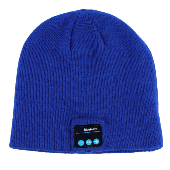 Fashion Hat with Bluetooth Hands-Free Phone Music (Blue) - intl
