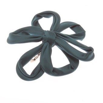 Fashion Sweet Flower Fabrics Hair Band Headband Jewelry Blackgreen - intl