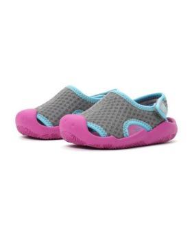 Giày lười bé gái Crocs Swiftwater Mesh Sandal K Smo/ViVlt 204024-0CZ (Xám)