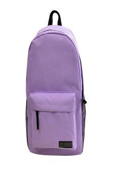 HKS Fashion Simple Women Canvas Backpack Schoolbag Light Purple - intl