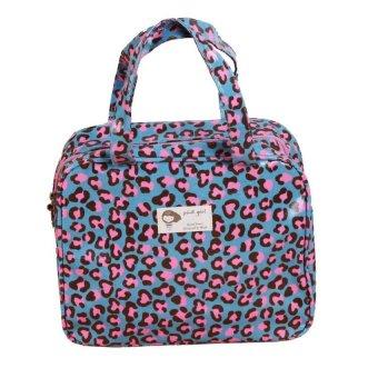 HKS Color Leopard Small Bag (Deep Blue) - intl