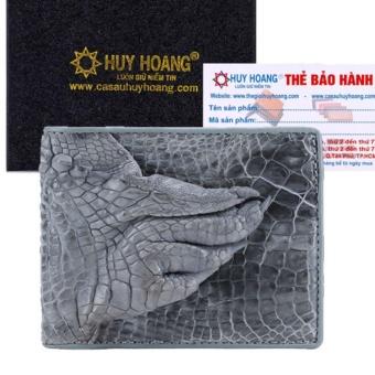 HL2262 - Bóp nam Huy Hoàng da cá sấu gù chân màu xanh ngọc
