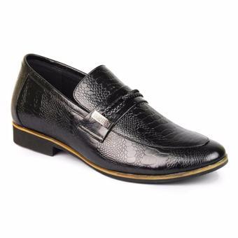 Giày da nam tăng chiều cao phong cách SMARTMEN GL-14 (Đen)
