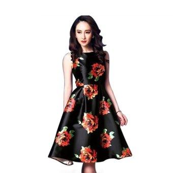 Đầm xòe 3d hoa hồng cao cấpBeYeu1688 - BY3088