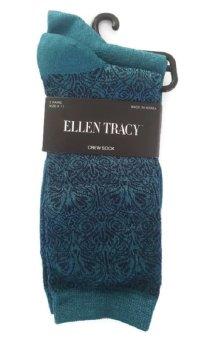 Bộ 2 Đôi Tất Nữ Xanh Ellen Tracy Women's 2 Pack Textured Swirl Motif (Xanh)