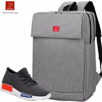 Combo Balo Cylinder BLC006GR + Giày Sneaker GS064GR (Xám) - CB006