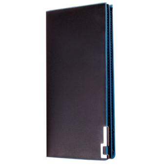 Long Thin Wallet Male Money Purses Flip Up Wallet Blue