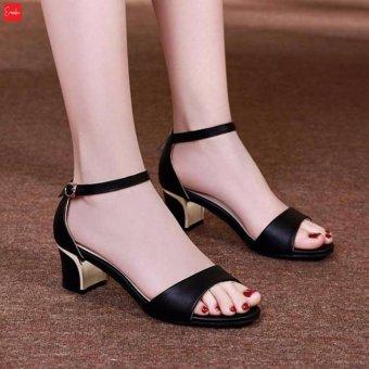 Giày Sandal Nữ Gót Vuông Erosska - SD001 ( Màu Đen)