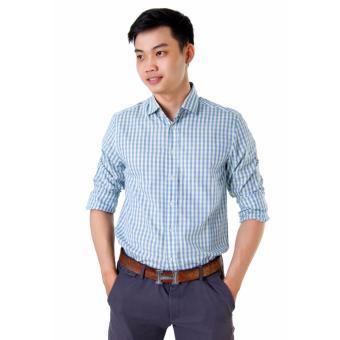Áo Sơ Mi Nam Big Size Sọc Đứng Xanh Xinh Store