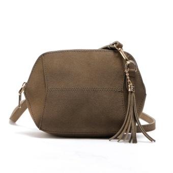 Womens Leather Shoulder Bag Satchel Handbag Tote Hobo Crossbody Bags Coffee - intl