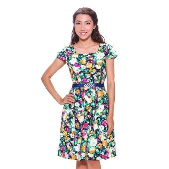 Đầm NT Fashion 145X-450 (Hoa văn màu sắc)