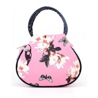 Women Floral leather Shoulder Bag Satchel Handbag Retro Messenger Bag - intl