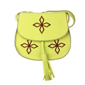 Fashion Woman Satchel Suede Shoulder Bag Tassels Messenger Handbag Green - Intl