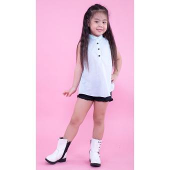 Áo kiểu bé gái Ugether UKID162 (Xanh nhạt)