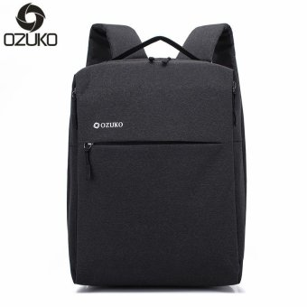 OZUKO Brand Minimalist Business Laptop Men Backpack Waterproof Oxford Travel Women Men College Backpacks School Bag (Black) - intl