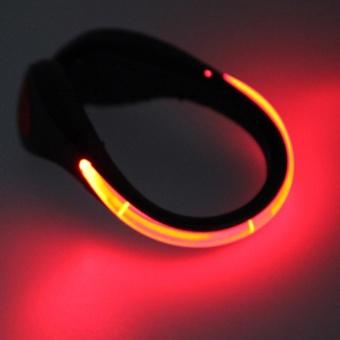 Moonar LED Luminous Plastic Night Safety Warning Shoe Clip Light for running cycling shopping climbing (Red) - intl