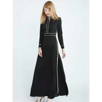 Đầm Candeblanc White Line Shirt Black-W16H2060