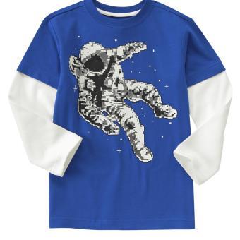 Áo phông Crazy 8 Digital Astronaut Double Sleeve
