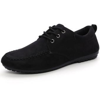Giày lười vải nhung Glado G07D (Đen)