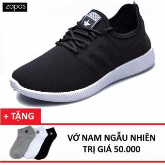 Giày Sneaker Thời Trang Nam Zapas GS068 ( Đen ) + Tặng Vớ - Hãng Phân Phối Chính Thức