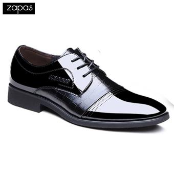 Giày tây công sở dây cột Zapas - GT09 (Đen)
