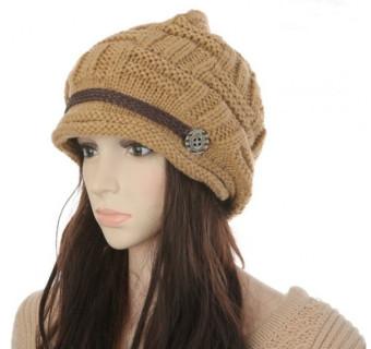 New Winter Women Beanie Chunky Knit Baggy Hat Warm Ski Hat Cap Headwear Khaki (Intl)