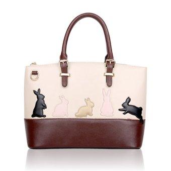 Animal Cat Designer Women Leather Tote Shoulder Rabbit - Intl
