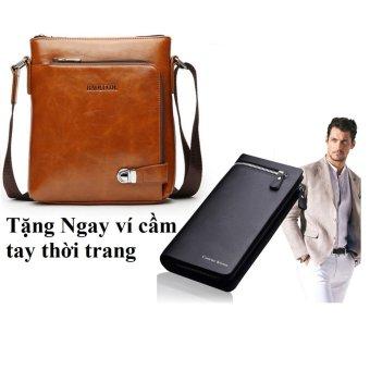Túi đeo chéo nam thời trang DT1807 + Tặng ví nam cầm tay Curewe Kerien