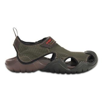 Giày Sandal Nam Crocs Swiftwater M 15041 22z (Xanh Nâu)(Us:8)