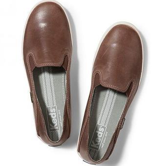 Giày da đế bằng nữ Keds (Xám)